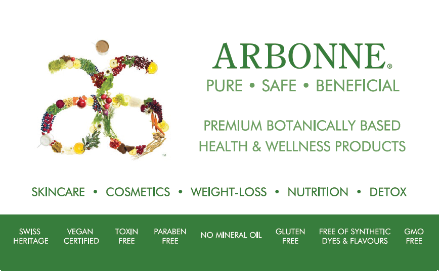 Arbonne - botanical, safe skincare, make-up and nutrition products