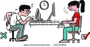 correct posture at your desk